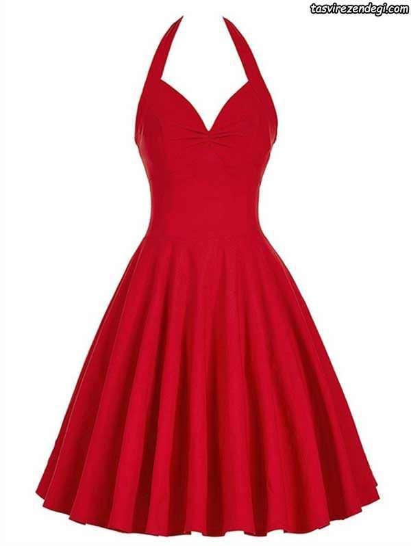 لباس مجلسی قرمز جدید