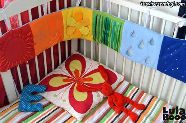 آموزش دوخت محافظ تخت بچه