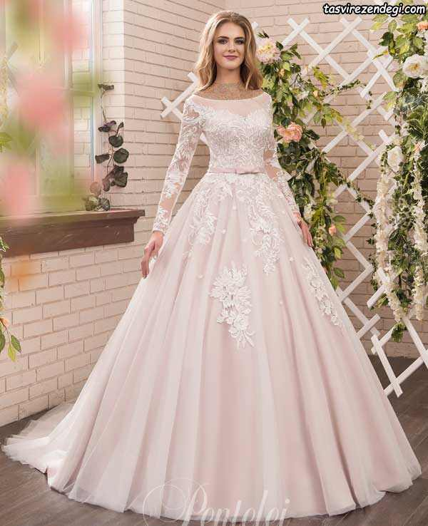 مدل لباس عروس رنگی پوشیده