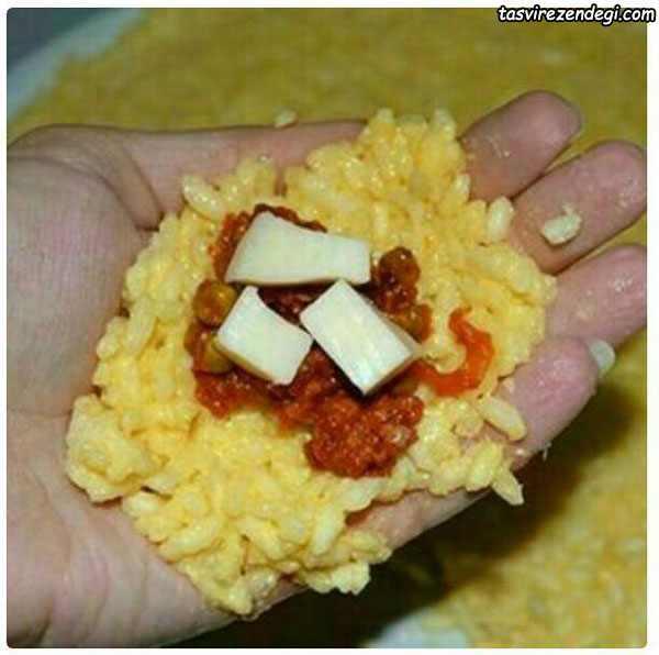 آرانچینی ایتالیایی , کوفته برنج