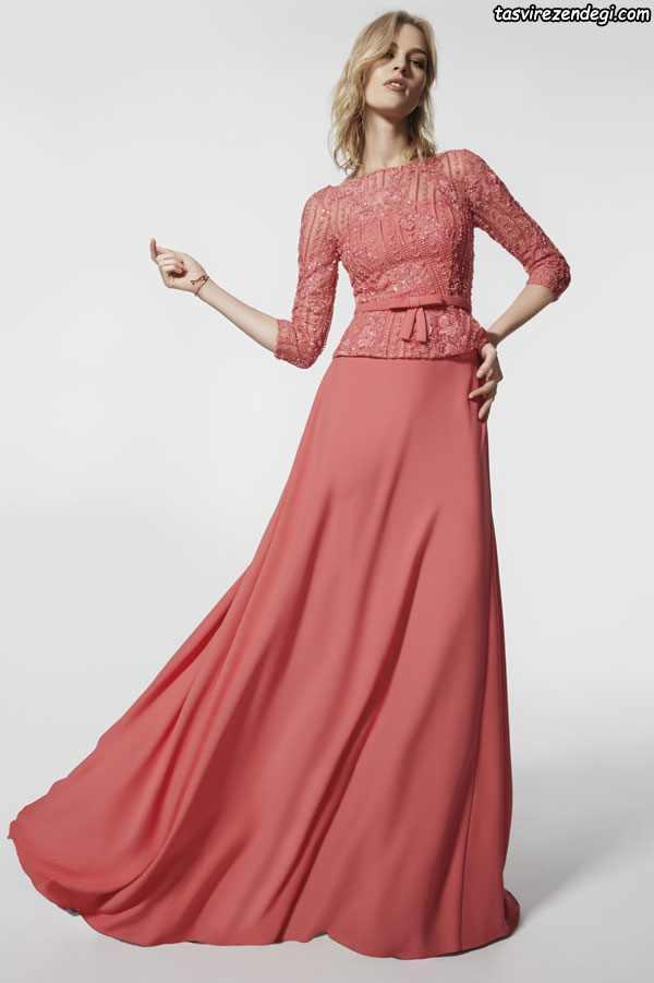 مدل لباس مجلسی آستین دار بلند