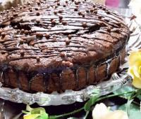 کیک گاتوشا با سس شکلاتی