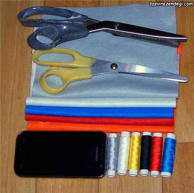 آموزش دوخت کیف موبایل نمدی