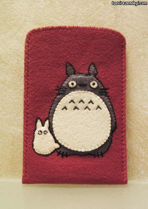 کاور موبایل نمدی طرح گربه