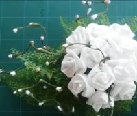 آموزش ساخت دسته گل تزیینی