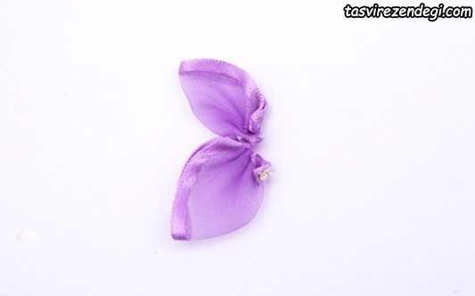 آموزش ساخت پروانه روبانی زیبا