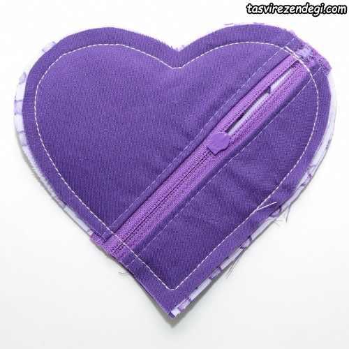 آموزش دوخت کیف هندزفری, کیف قلبی