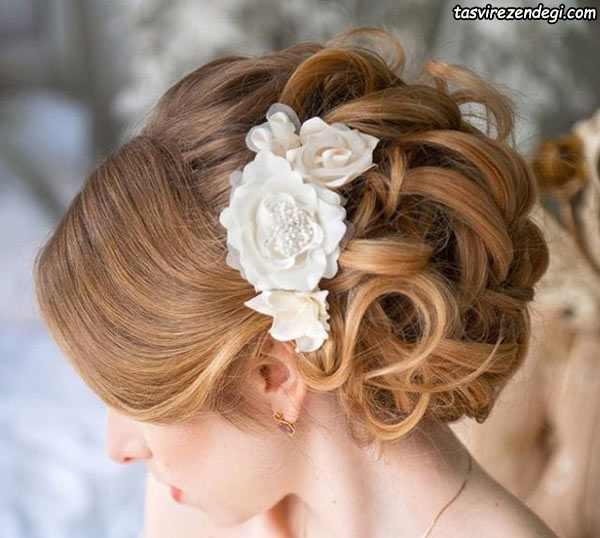 شینیون جدید ,شینیون بسته موی عروس