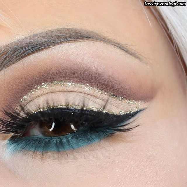 آرایش چشم عروس زیبا