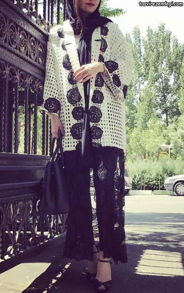 مدل مانتو مجلسی بلند دخترانه