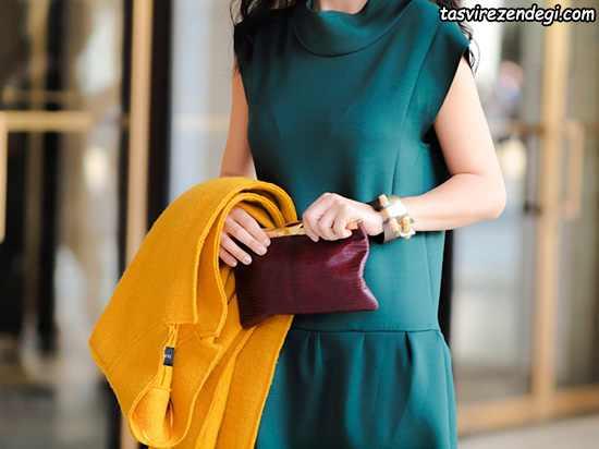 ست کردن رنگ لباس زنانه پاییزی