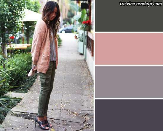 ترکیب رنگ مناسب لباس در پاییز