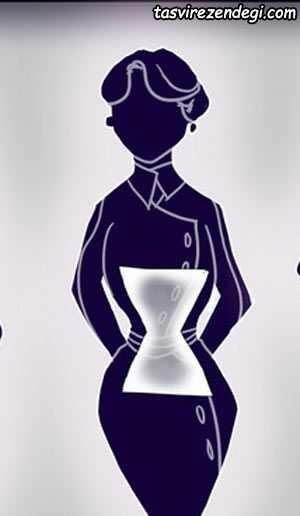 چگونه لاغرتر به نظر برسیم, اندام ساعت شنی
