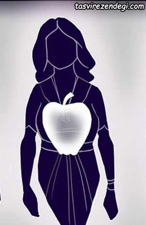 چگونه لاغرتر به نظر برسیم, اندام سیبی