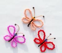 آموزش منجوق بافی , ساخت پروانه مهره بافی