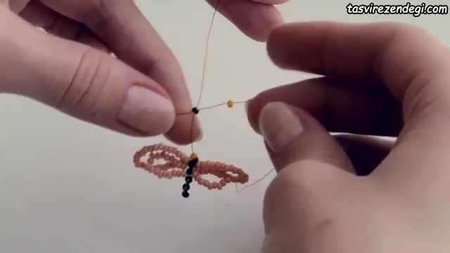 آموزش مهره بافی, ساخت پروانه منجوق بافی