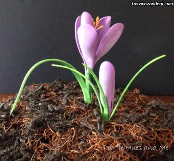 آموزش گلسازی با فوم , ساخت گل زعفران