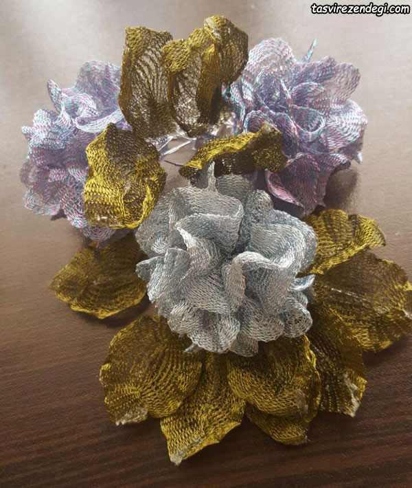 آموزش ساخت گل میخک با نوار تیتانیوم