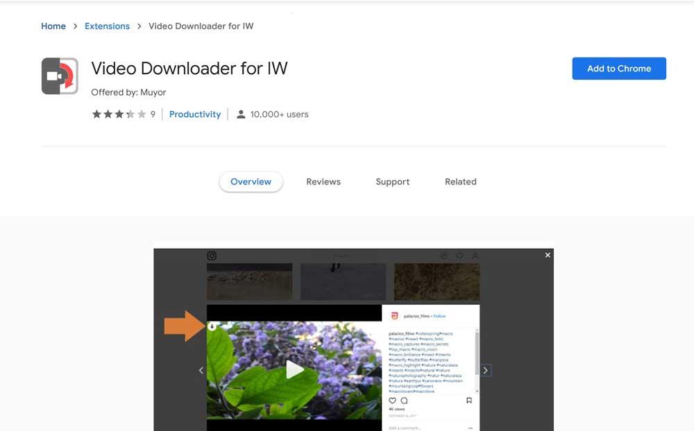آموزش نصب افزونه کروم Video Downloader for IW برای دانلود ویدیو از اینستاگرام