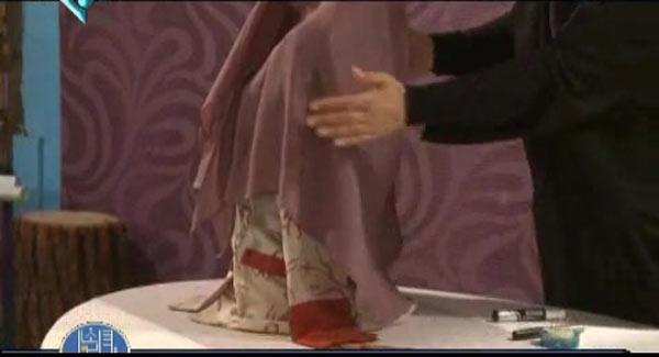 آموزش دوخت مقنعه طرح روسری