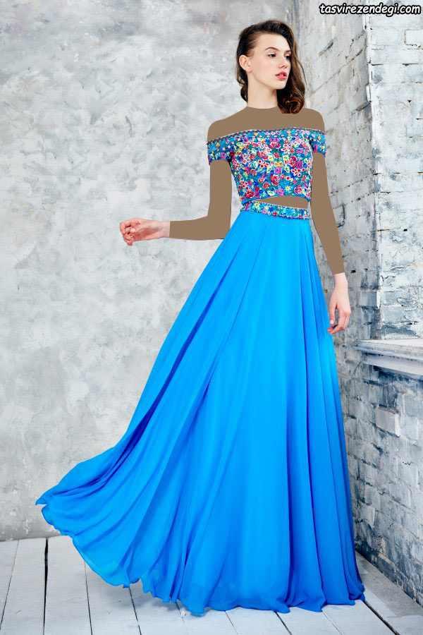 لباس شب نیم تنه دامن سال۲۰۱۷ مدل های زیبای لباس مجلسی بلند شیک برند angelaandalison ...