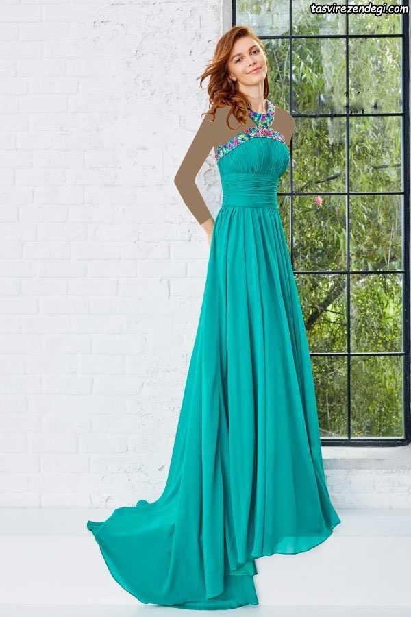 لباس مشکی مدل ماهی مدل لباس مجلسی بلند دخترانه شیک و زیبای برند ...