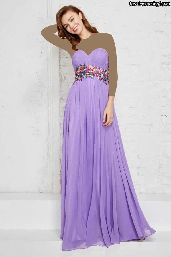 مدل لباس مجلسی بلند شیک دکلته