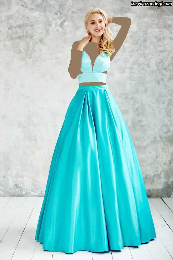 مدل لباس مجلسی بلند شیک دخترانه