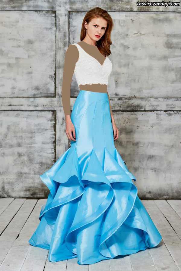 مدل لباس مجلسی بلند شیک دو بندی