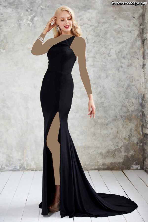 مدل لباس مجلسی بلند شیک یک بندی