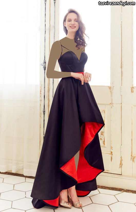 مدل لباس مجلسی دامن دنباله دار