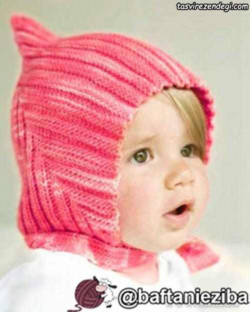 آموزش میل بافی , آموزش بافت کلاه بچگانه