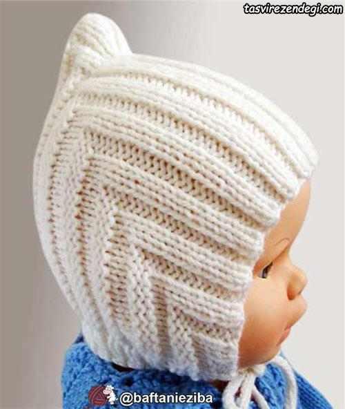 بافت خروس با دو میل تبیان آموزش بافت کلاه بچگانه پسرانه و دخترانه