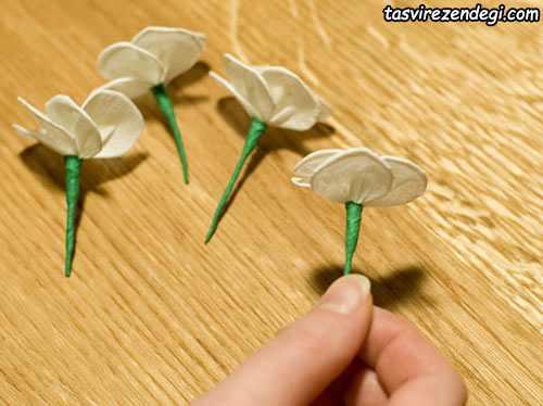 آموزش گلسازی با کاغذ, ساخت شکوفه های گیلاس
