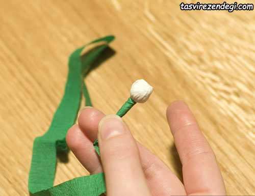 آموزش ساخت شکوفه گیلاس با کاغذ کشی