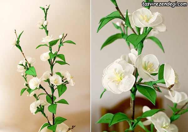 آموزش ساخت شکوفه های گیلاس با کاغذ کشی