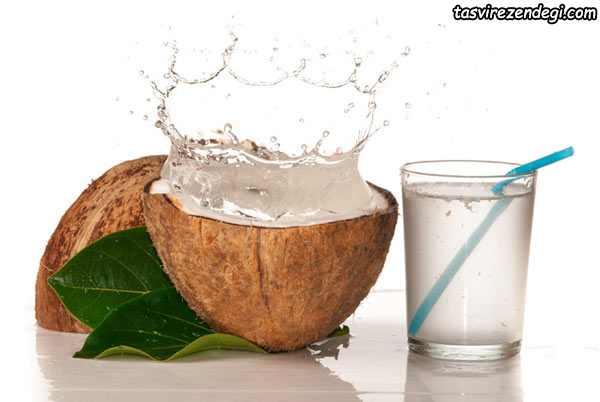آب کردن چربیهای شکم , آب نارگیل