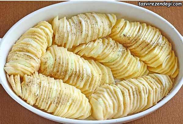 چیپس سیب زمینی کبابی