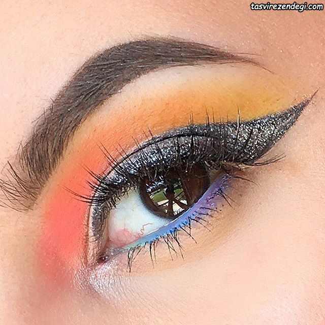 مدل آرایش چشمهای قهوه ای
