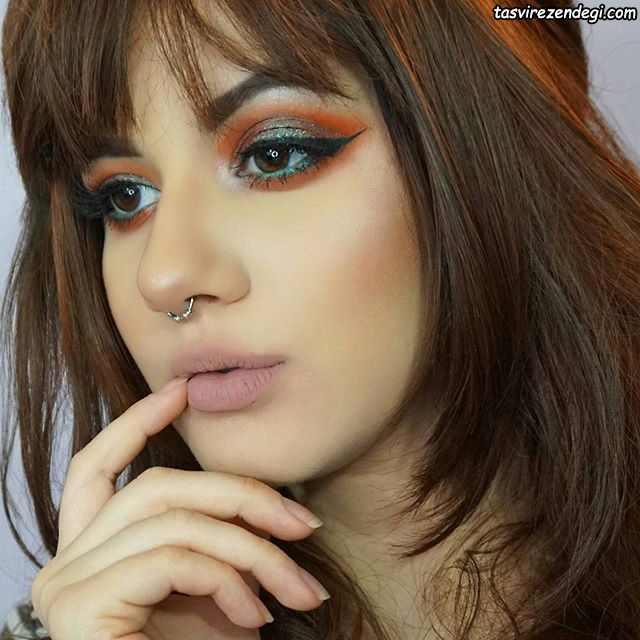 مدل آرایش چشم های قهوه ای