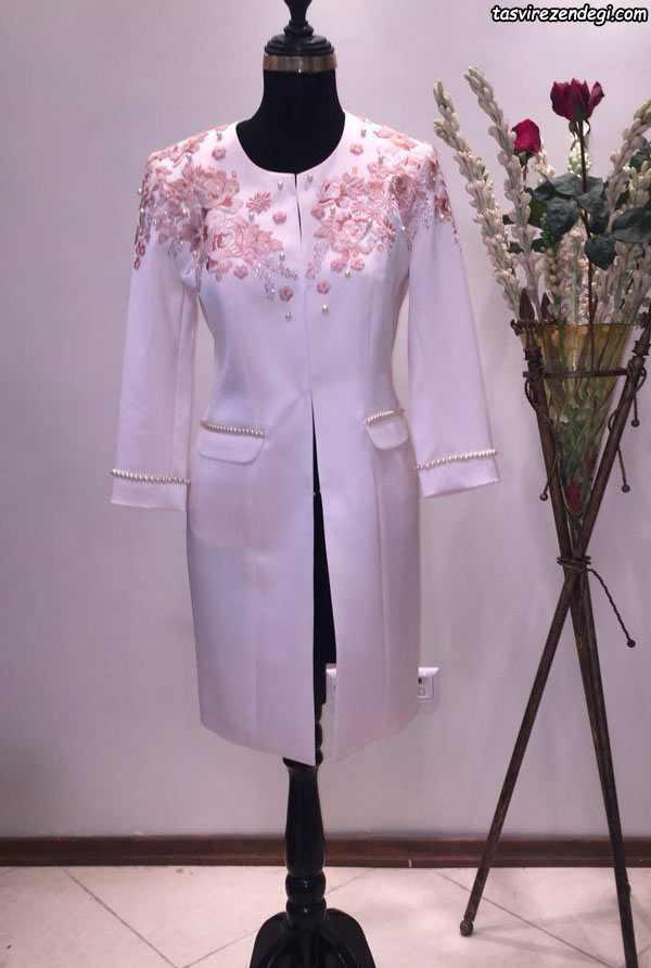 مدل مانتو عروس یاسی رنگ برای محضر