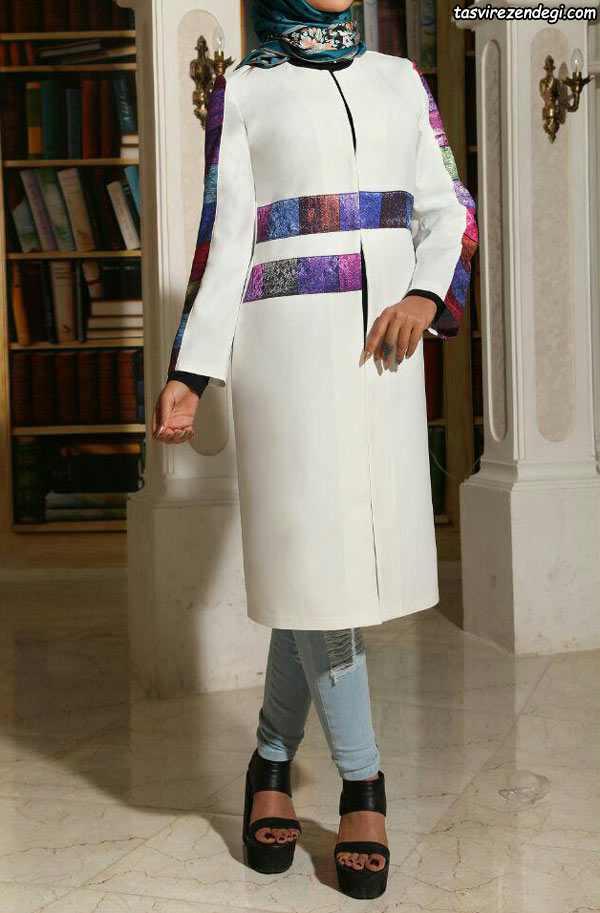 مدل مانتو مجلسی کتی سفید