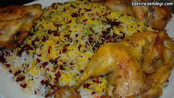 پخت غذاهای نذری , زرشک پلو مرغ