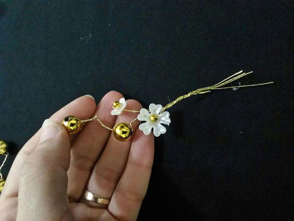 ساخت گل سینی کریستالی
