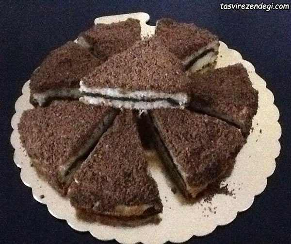 کیک کرامبل سیب