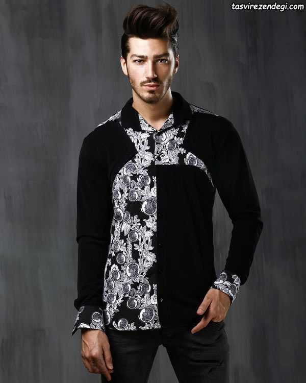 مدل پیراهن مردانه مشکی