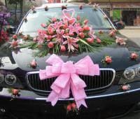 تزیین ماشین مشکی برای عروسی