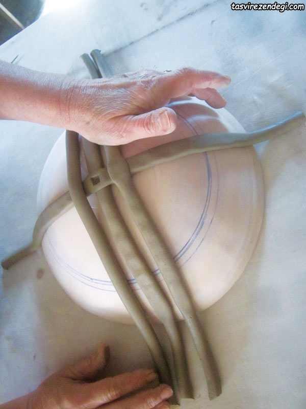 آموزش ساخت ظرف خمیری , خمیر سرامیک