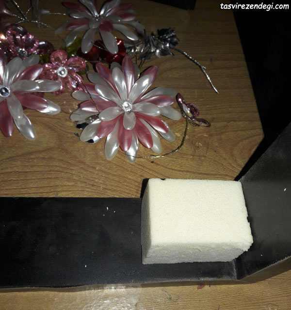 آموزش ساخت شاخه گل کریستالی