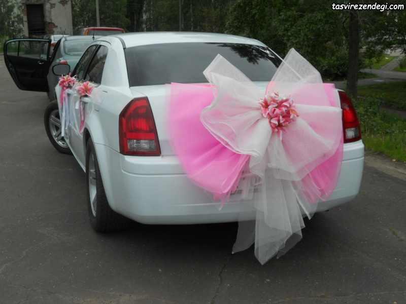 تزیین چشت ماشین عروس داماد